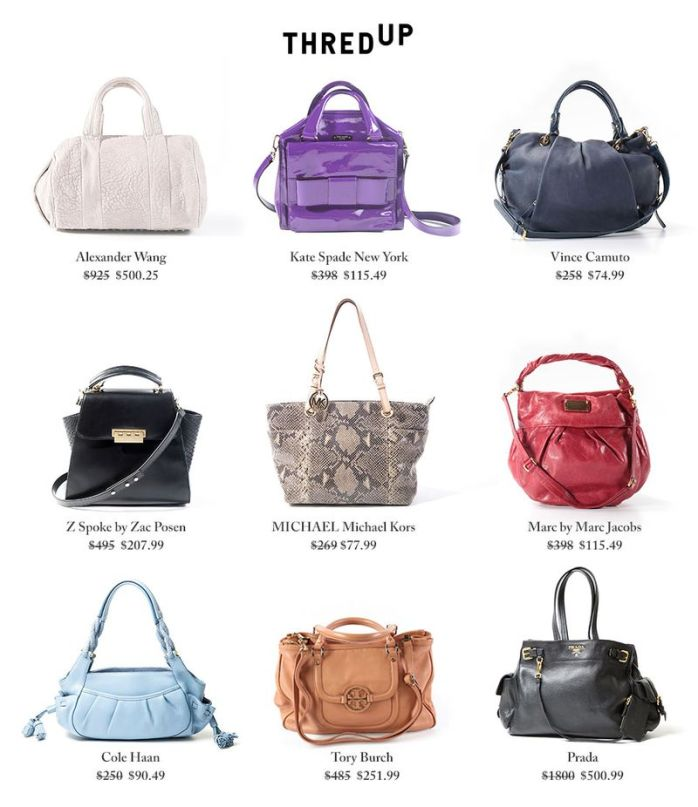ThredUP handbags with price points